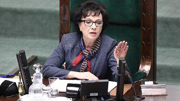 Marszałek Sejmu Elżbieta Witek podczas 1. posiedzenia Sejmu IX kadencji, 21.11.2019