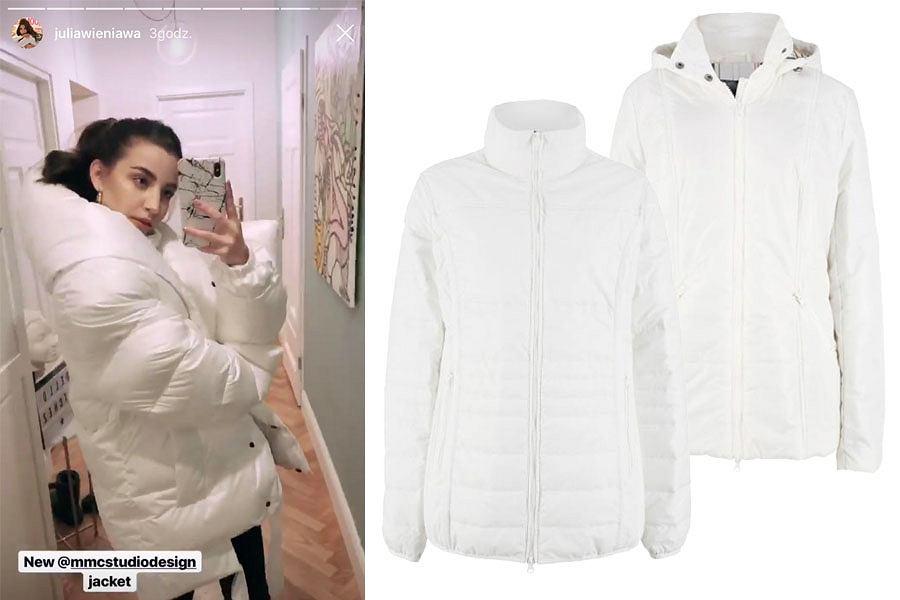 biała kurtka / mat. partnera