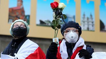 Protest emerytów w Mińsku, 16 listopada 2020 r.