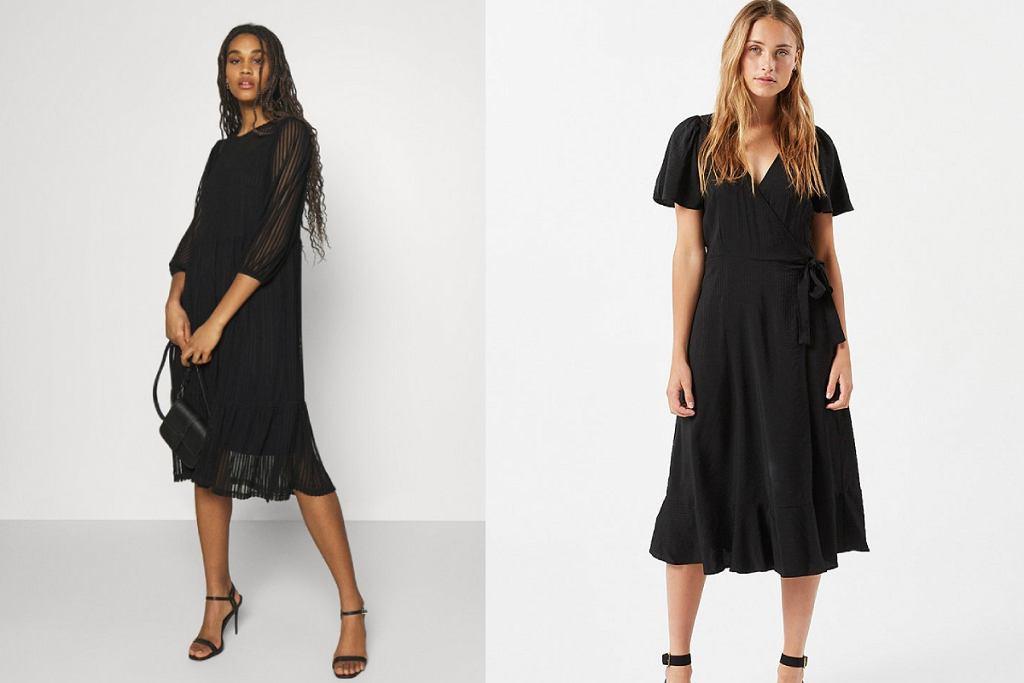 Czarne sukienki midi to romantyczna propozycja nie tylko na wyjątkowe okazje