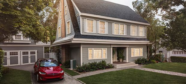 Dachówki produkujące prąd od Tesla Energy
