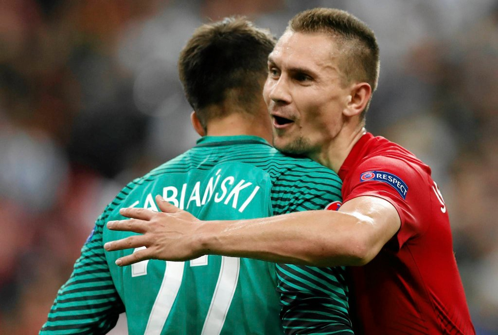 Łukasz Fabiańki i Artur Jędrzejczyk