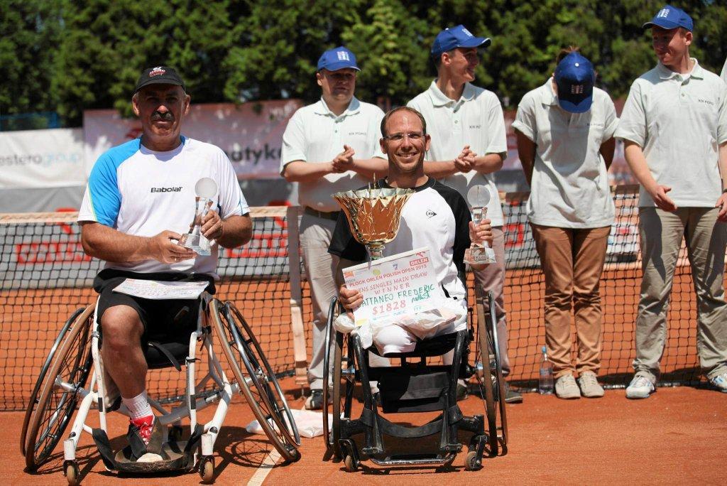 Ubiegłoroczni finaliści. Od lewej: Tadeusz Kruszelnicki oraz zwycięzca, Francuz Frederic Cattaneo