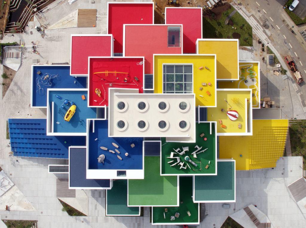 LEGO House - widziane z góry