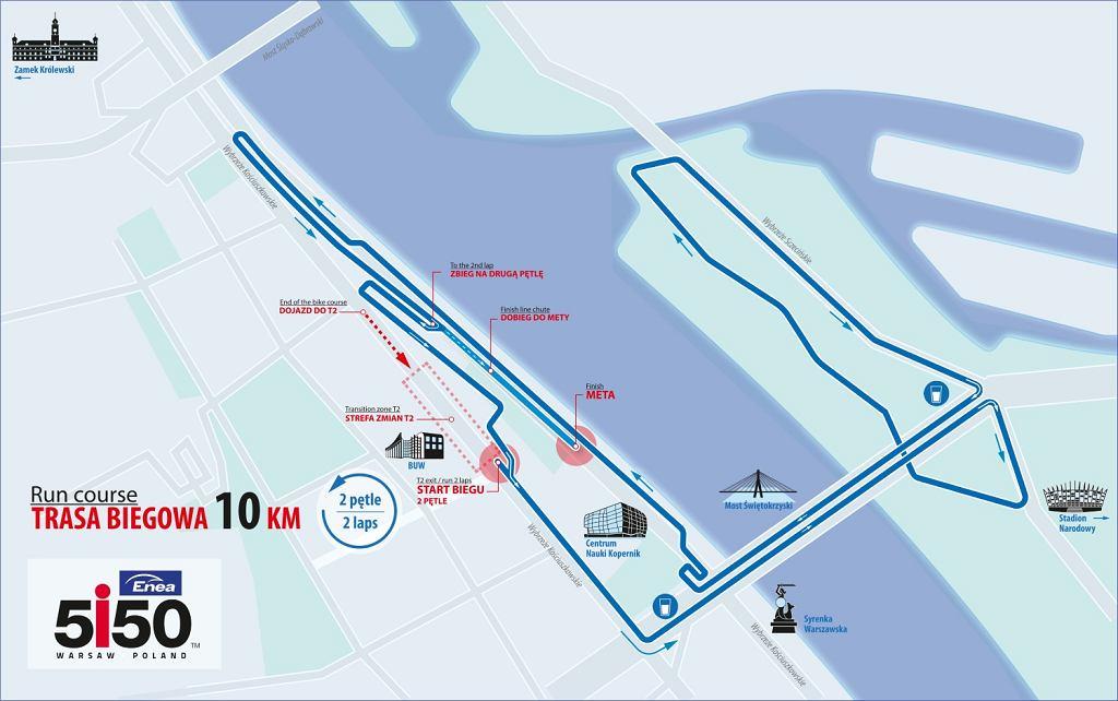 Trasa biegowa triathlonu