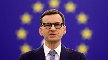 Premier Mateusz Morawiecki podczas debaty w Parlamencie Europejskim