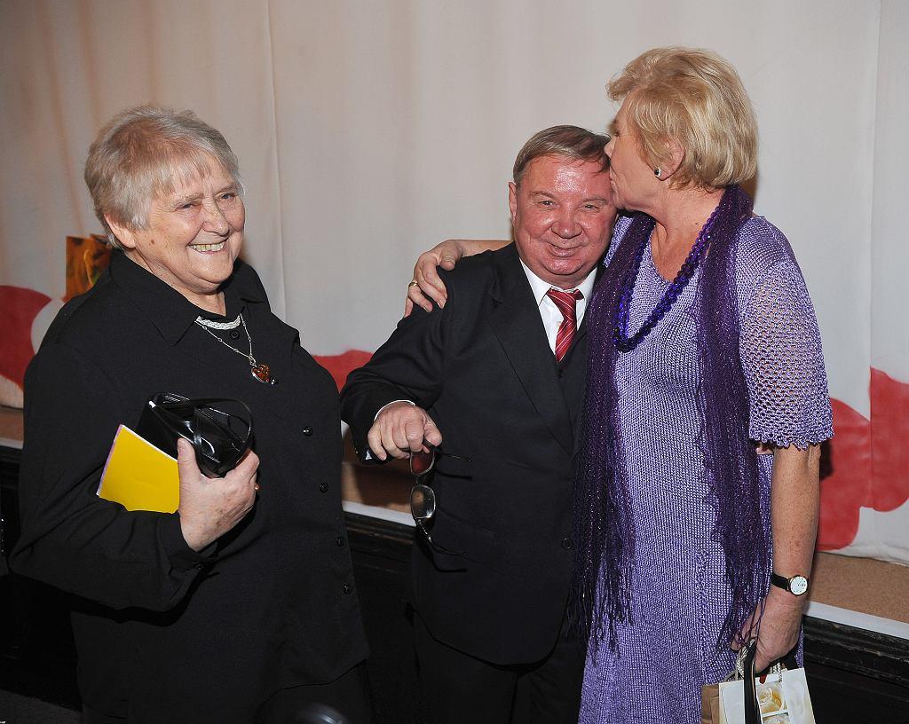 Roman Kłosowski z żoną i Teresą Lipowską