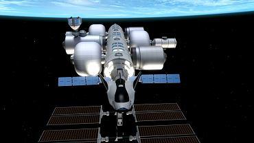 Stacja kosmiczna Orbital Reef na wizualizacji