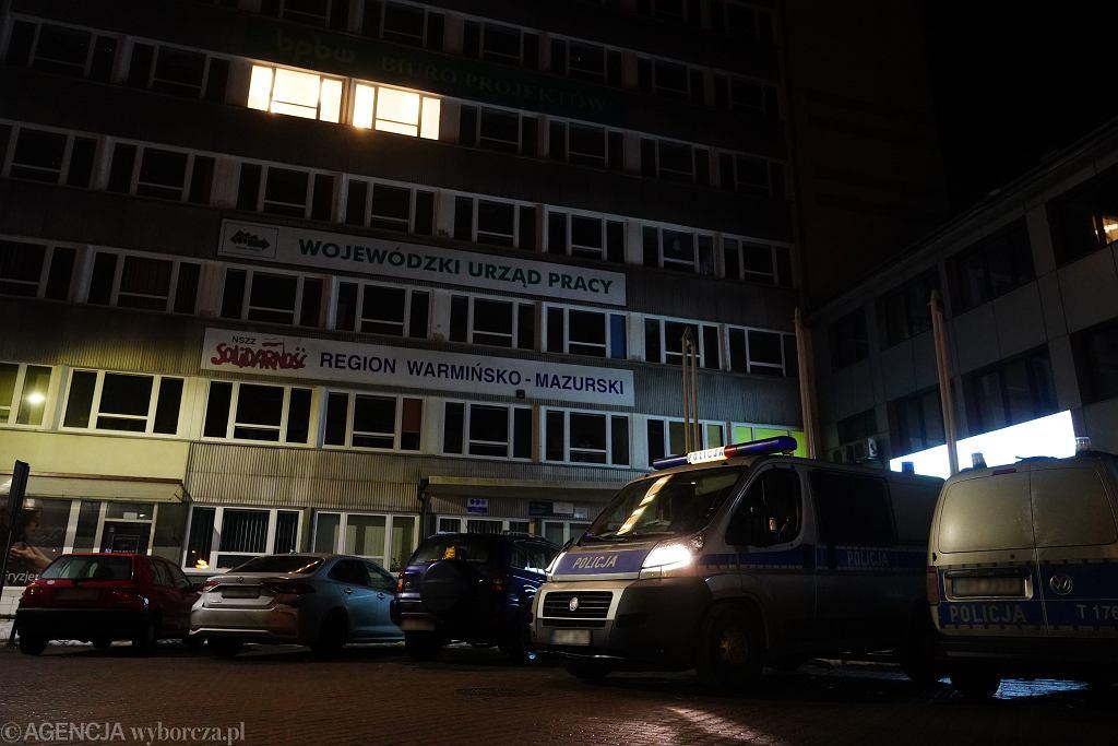 Napad na kantor w Olsztynie