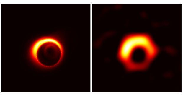 Symulowany obraz czarnej dziury M87