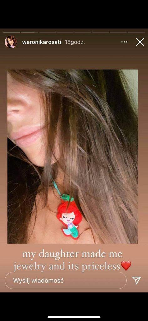 Weronika Rosati pochwaliła się naszyjnikiem, który zrobiła dla niej córka