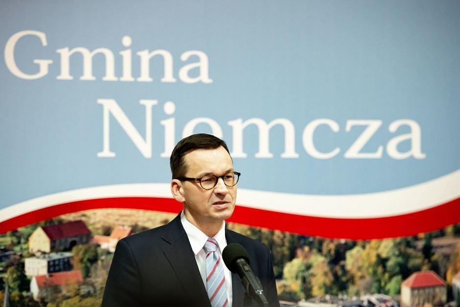 Wizyta Mateusza Morawieckiego w urzędzie w Niemczy