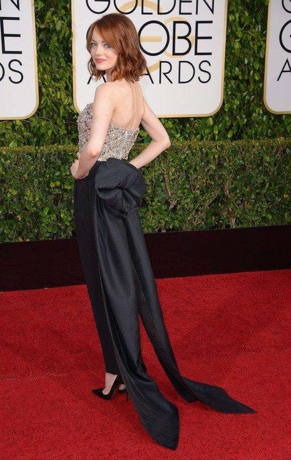 Mandatory Credit: Photo by REX (4375586go) Emma Stone 72nd Annual Golden Globe Awards, Arrivals, Los Angeles, America - 11 Jan 2015