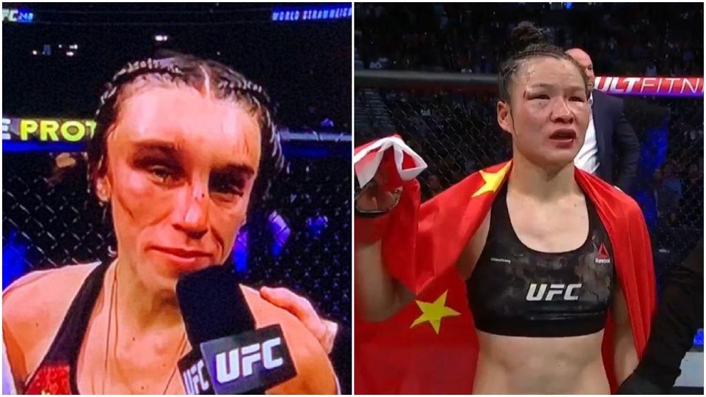 Joanna Jędrzejczyk i Weili Zhang