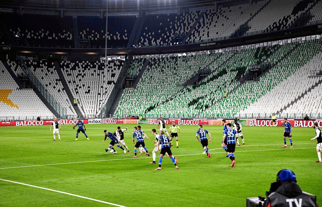 Juventus - Inter Mediolan. Hit ligi włoskiej rozegrano na pustym stadionie