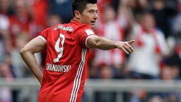 Robert Lewandowski po trzecim golu wbitym Augsburgowi