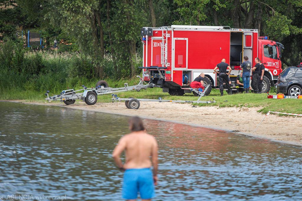 Akcja poszukiwawcza na jeziorze