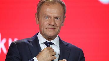 Donald Tusk podczas Gali 30-lecia  Gazety Wyborczej  w Warszawie.