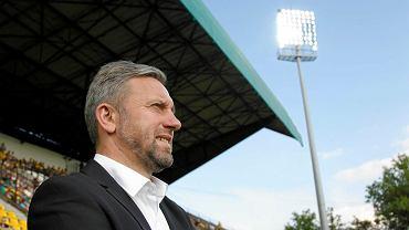 Jerzy Brzęczek na stadionie GKS-u Katowice