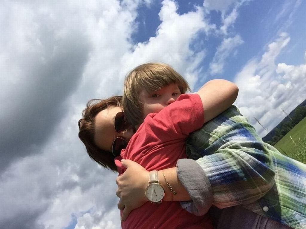 Agata Komorowska z synem Krystianem (fot. archiwum prywatne)