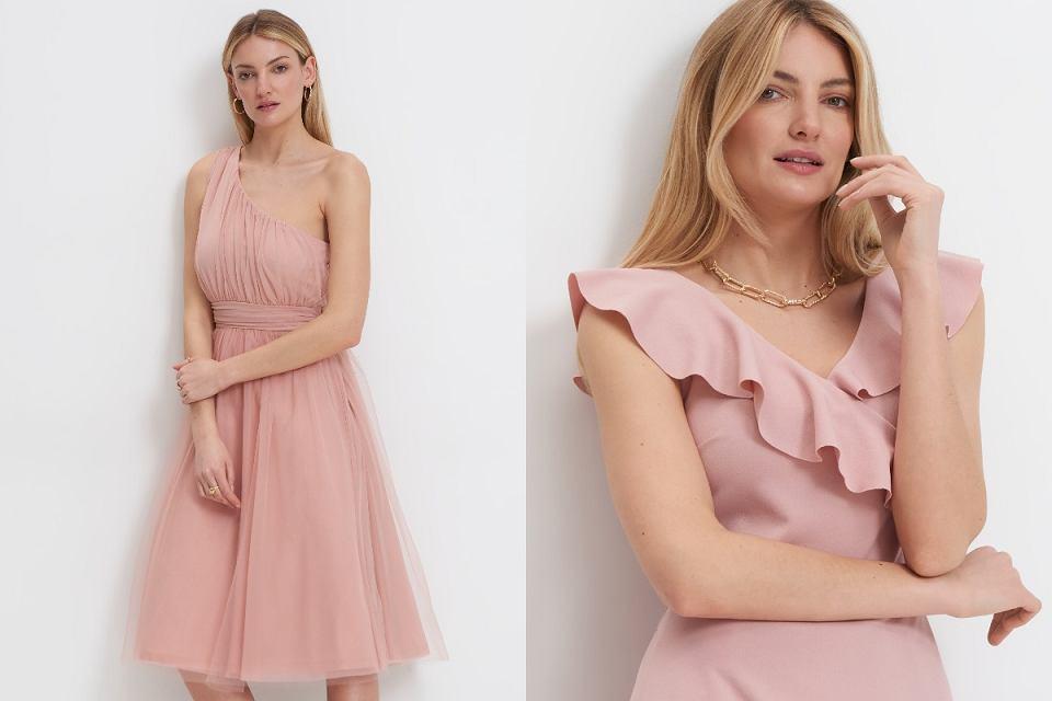 Sukienki pudrowe