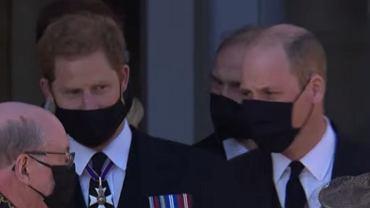 Książę Harry, książę William na pogrzebie księcia Filipa
