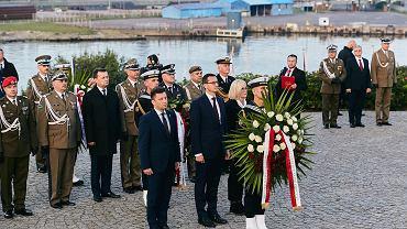 Westerplatte, 1 września 2018 r. Uroczystości upamiętniające rocznicę wybuchu II wojny światowej z udziałem premiera Mateusza Morawieckiego.