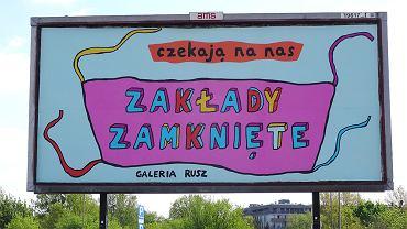 Artyści z Galerii Rusz zaprezentowali trzy nowe realizacje na billbordach
