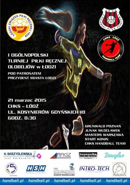 Plakat reklamujący turniej oldbojów