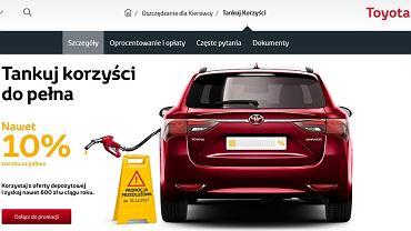 Toyota Bank -  do 10 proc. zwrotu za wydatki na paliwo w zamian za wpłatę oszczędności na lokatę