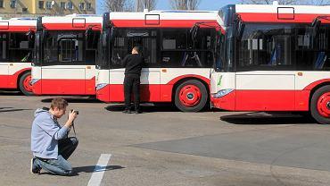 Autobusy PKM Sosnowiec w biało-czerwonych barwach. W zeszłym roku firma kupiła 14 nowych pojazdów