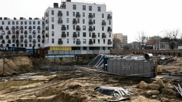 Warszawa, ulica Obozowa 20. Teren budowy osiedla Wola Libre.