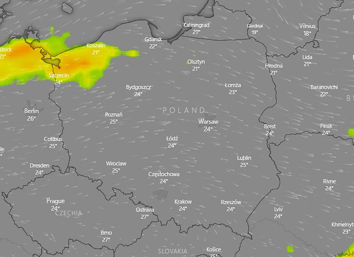 Gdzie jest burza? IMGW ostrzega: Największe szanse na burze na północy Polski