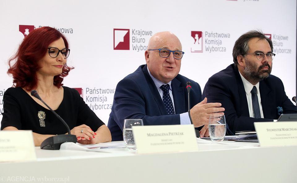 Wybory prezydenckie 2020. PKW ogłasza wyniki. Warszawa, 13 lipca 2020