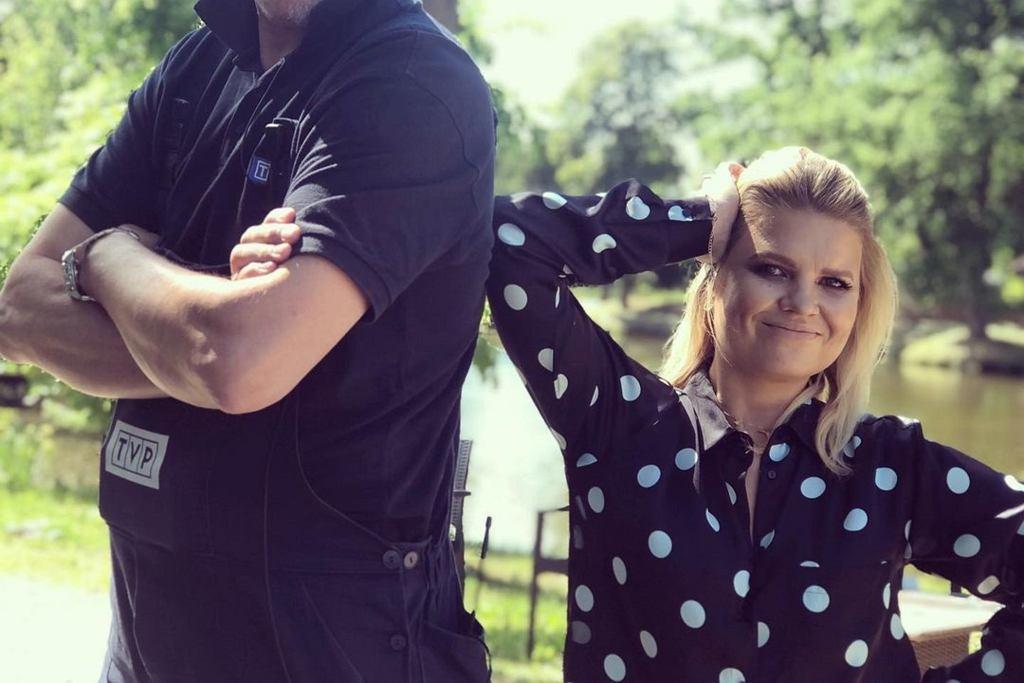 Marta Manowska z operatorem 'Rolnik szuka żony'
