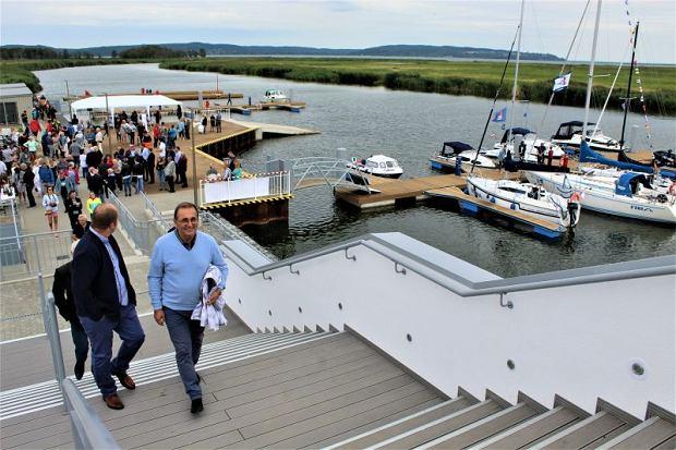 Sierpień 2019 r. Otwarcie przystani żeglarskiej w Łunowie (Świnoujście) w ramach Zachodniopomorskiego Szlaku Żeglarskiego