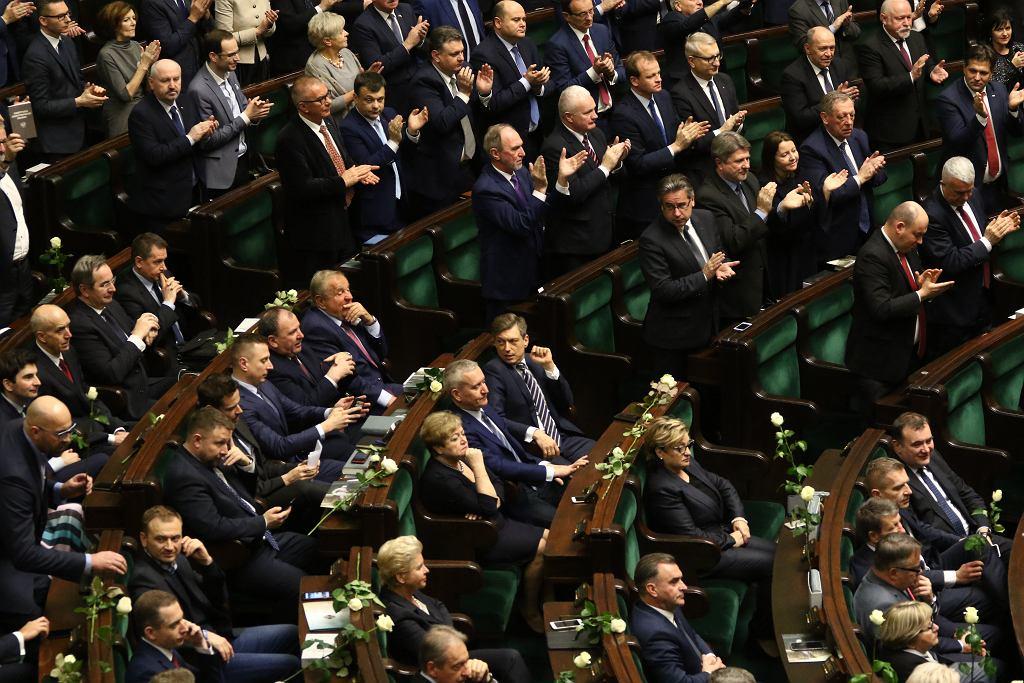 Zgromadzenie Narodowe - Andrzej duda wygłasza orędzie. Warszawa, Sejm, 5 grudnia 2017