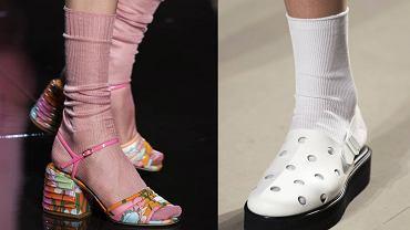 Skarpety do sandałów? Trend na lato 2020 prosto z pokazów mody