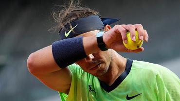 Rafael Nadal podczas French Open