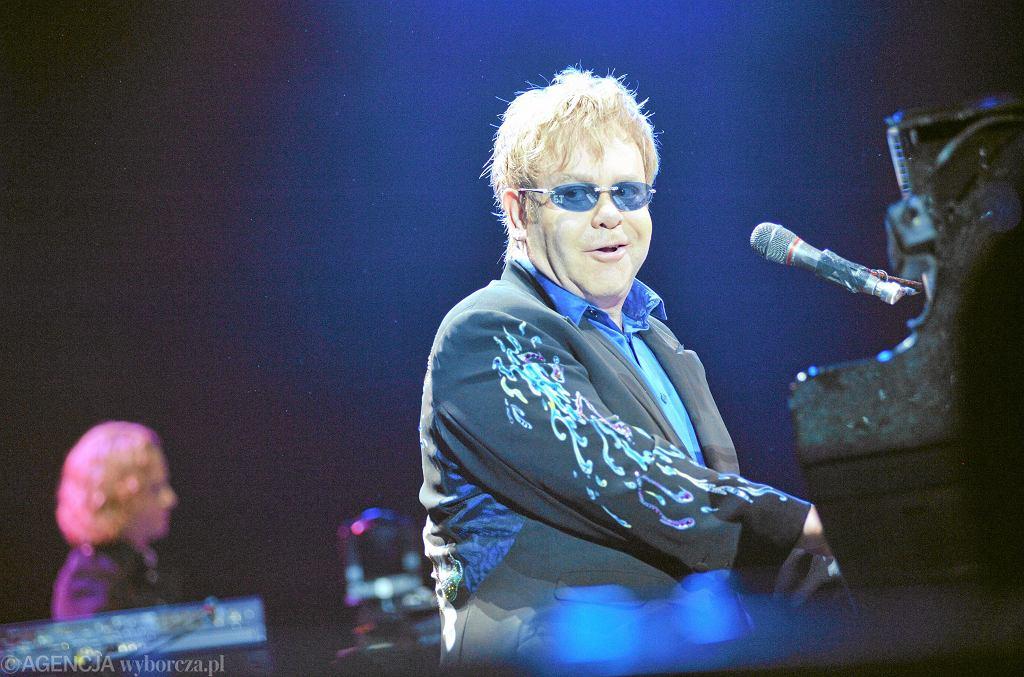 Elton John - koncert w Warszawie w 2010 roku. / Fot. Franciszek Mazur / Agencja