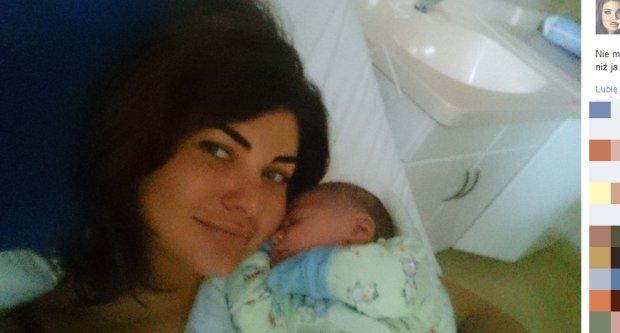 Dominika Wodzianka z dzieckiem