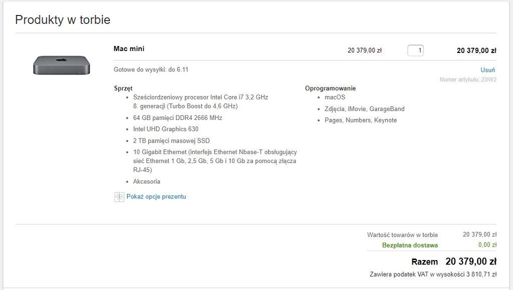 Mac Mini w najmocniejszej konfiguracji