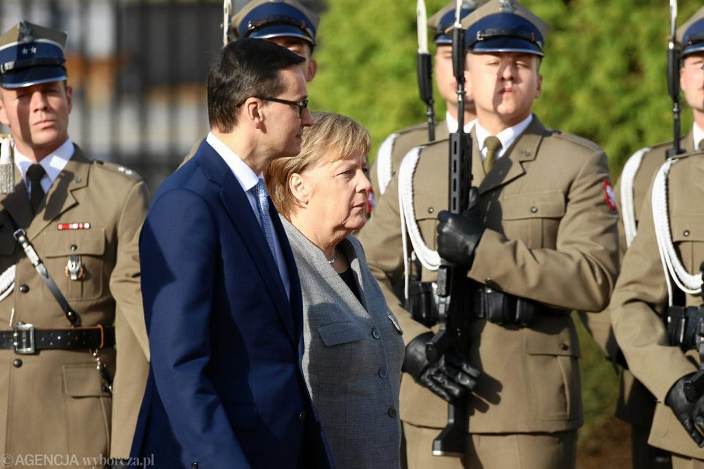 Wizyta Angeli Merkel w Warszawie, 2 listopada 2018.