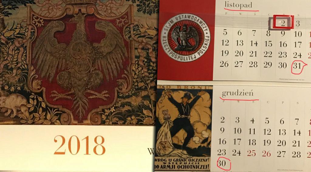Kalendarz wydany przez Kancelarię Sejmu