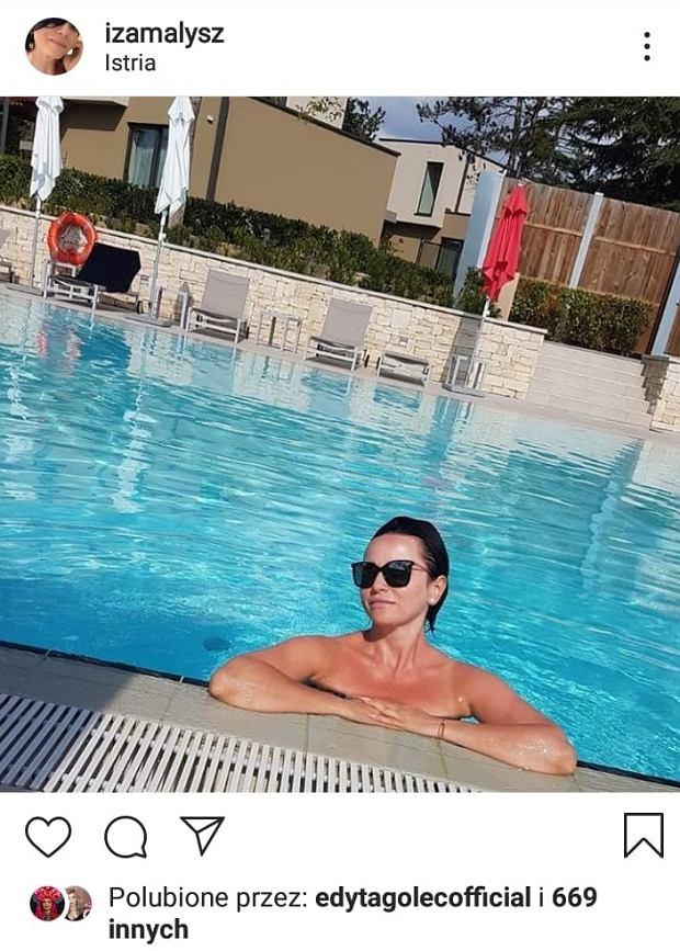 Iza Małysz w basenie