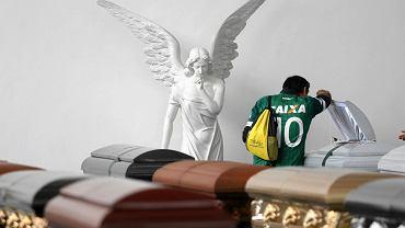 Kuzyn jednej z ofiar tragedii przy trumnie swojego krewnego