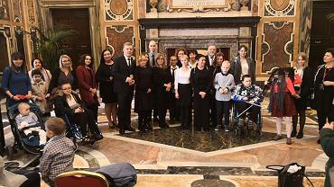 Pacjenci kliniki 'Przylądek Nadziei' spotkali się z papieżem Franciszkiem