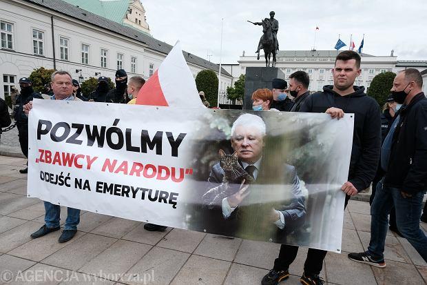 Agrounia protestuje w Warszawie