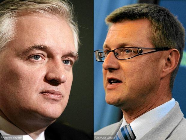 Jarosław Gowin i Artur Dunin (obaj PO)