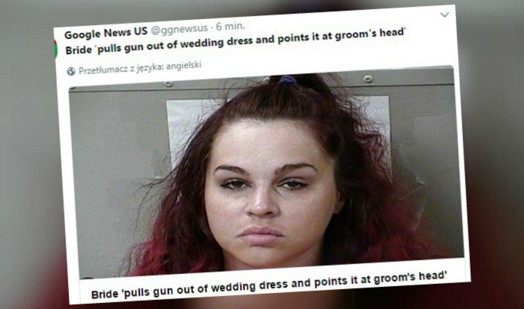 Panna młoda przystawiła młodemu broń do skroni